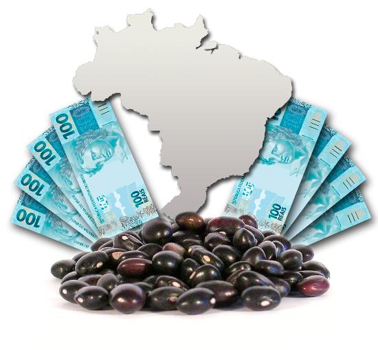 mapa brasil grãos dinheiro